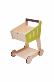 Plan Toys Wooden Shopping Cart - Product Mini Image