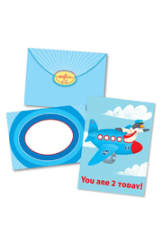 Eeboo Plane 2 Birthday Card - Front cropped