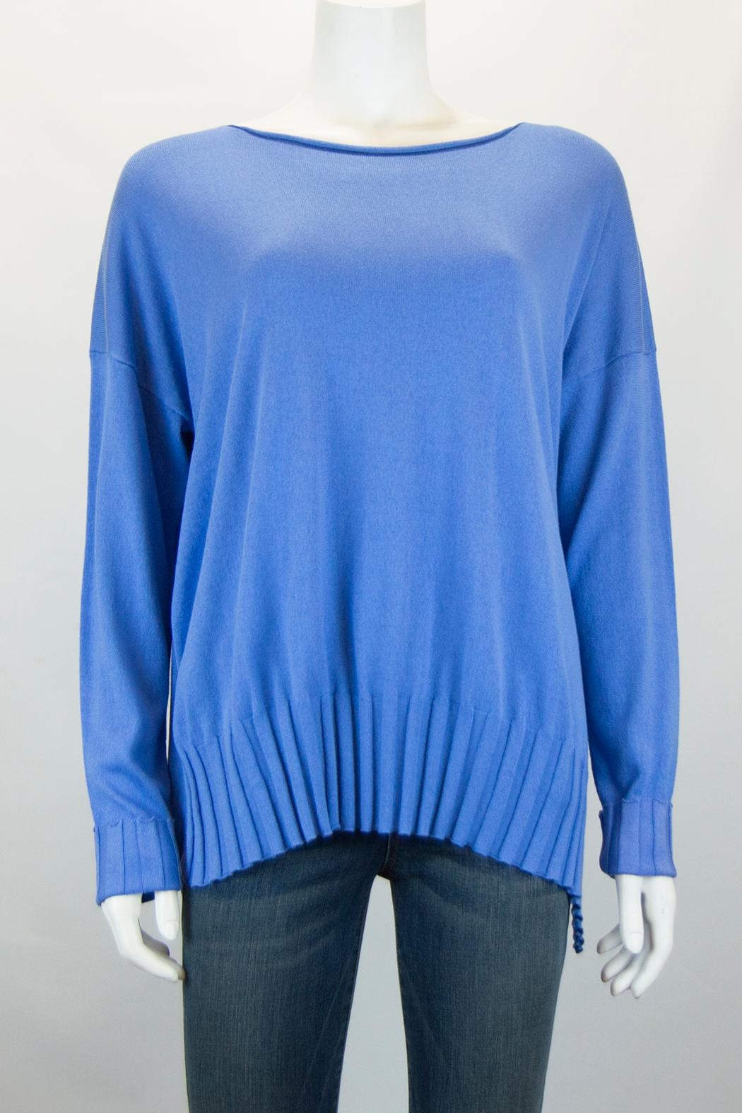 Planet Boatneck Sweater - Front Cropped Image