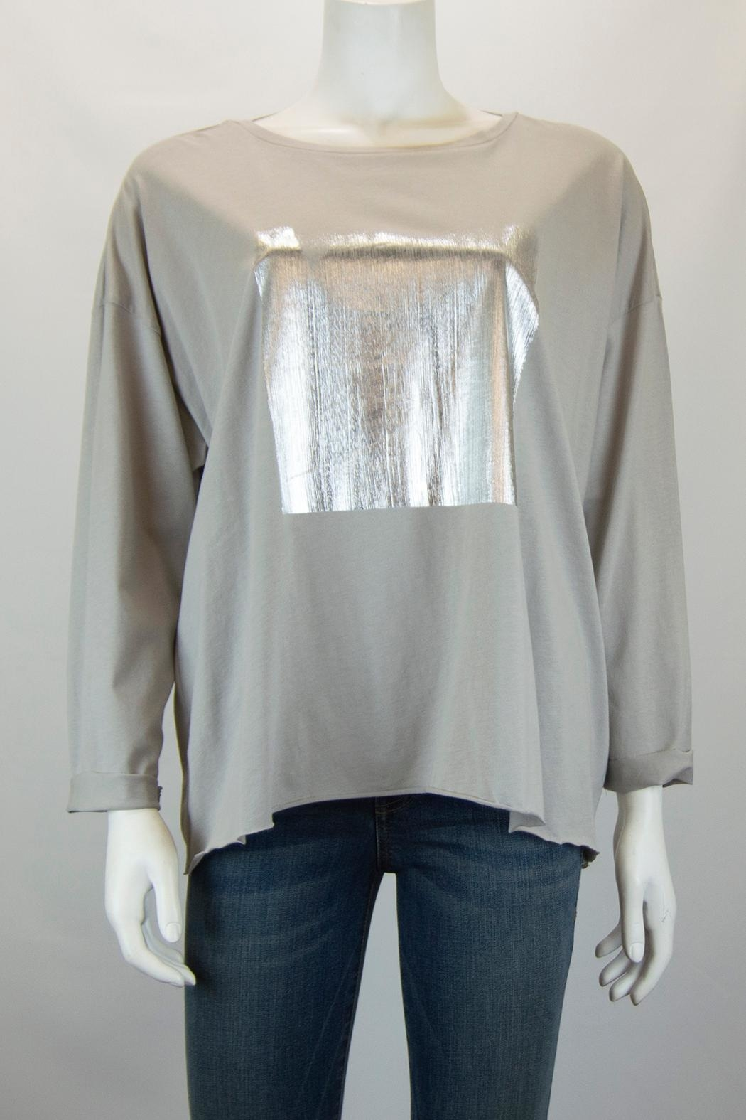 Planet Foil Boxy Tee - Front Cropped Image
