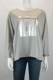Planet Foil Boxy Tee - Front cropped