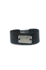 Lets Accessorize Plate Leather Bracelet - Product Mini Image