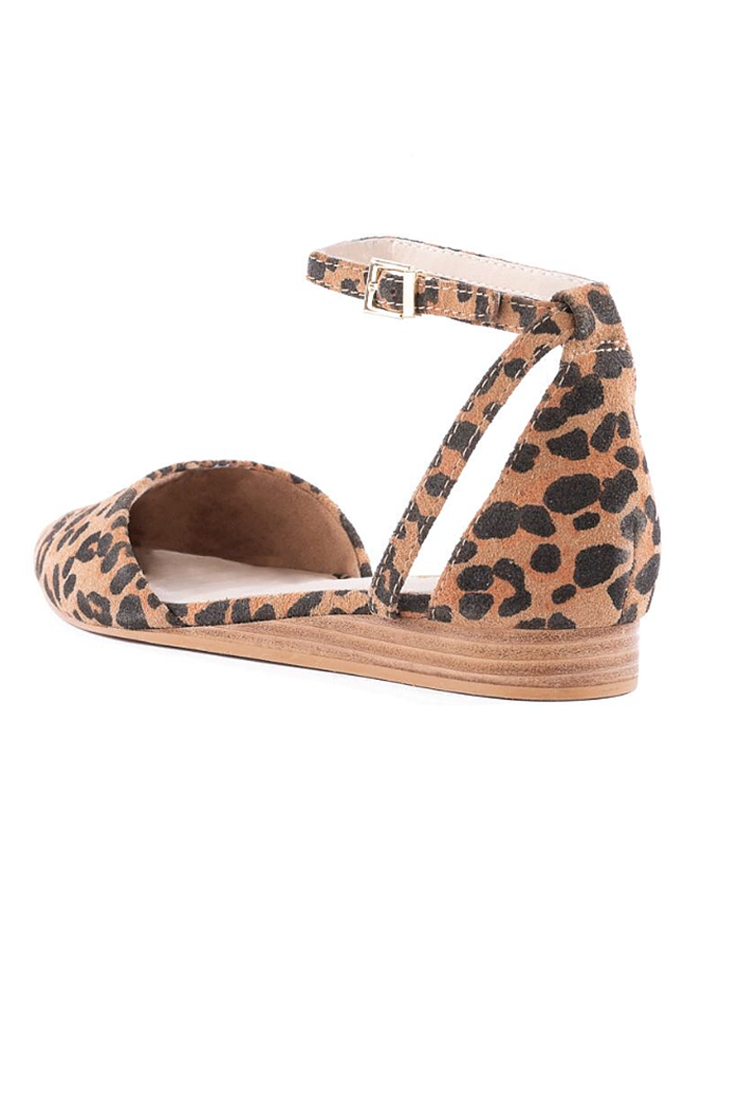 Seychelles Shoes Plateau Leopard Suede Wedge - Back Cropped Image