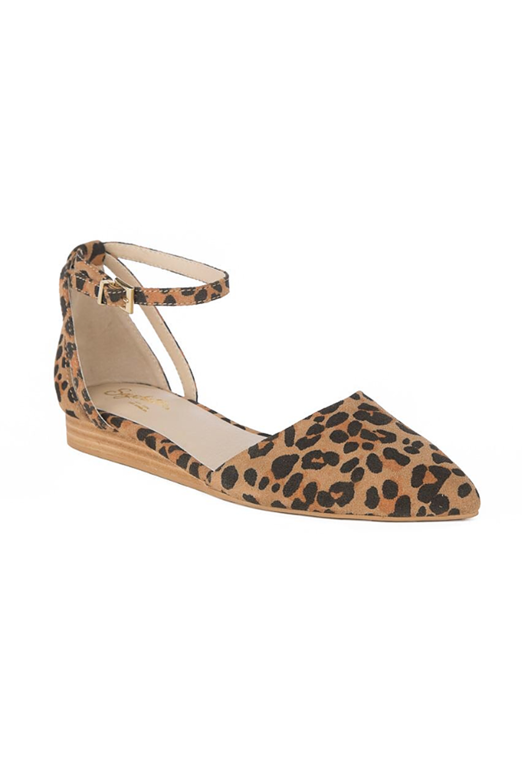 Seychelles Shoes Plateau Leopard Suede Wedge - Side Cropped Image