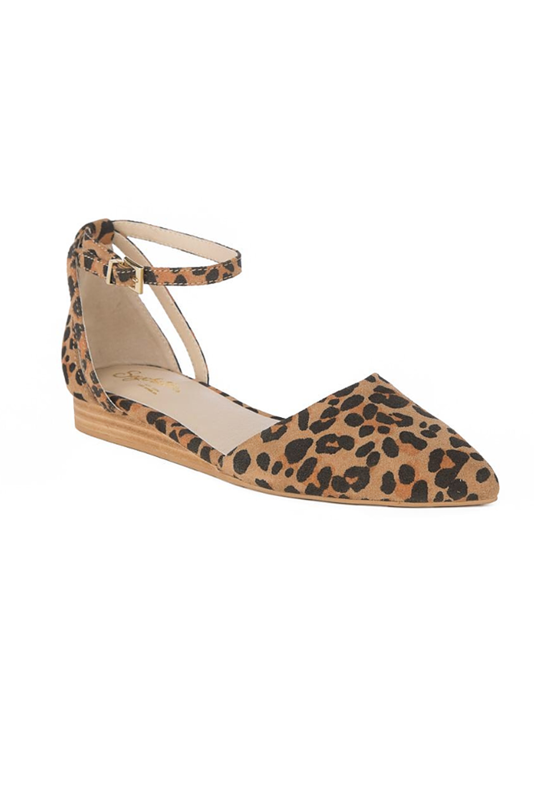 Seychelles Shoes Plateau Leopard Suede Wedge - Front Full Image