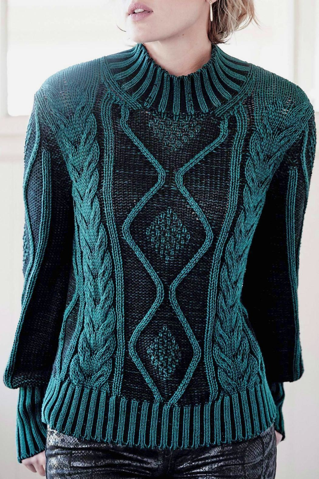 Indigenous Plated Cable Pullover - Main Image