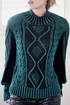 Indigenous Plated Cable Pullover - Product List Image