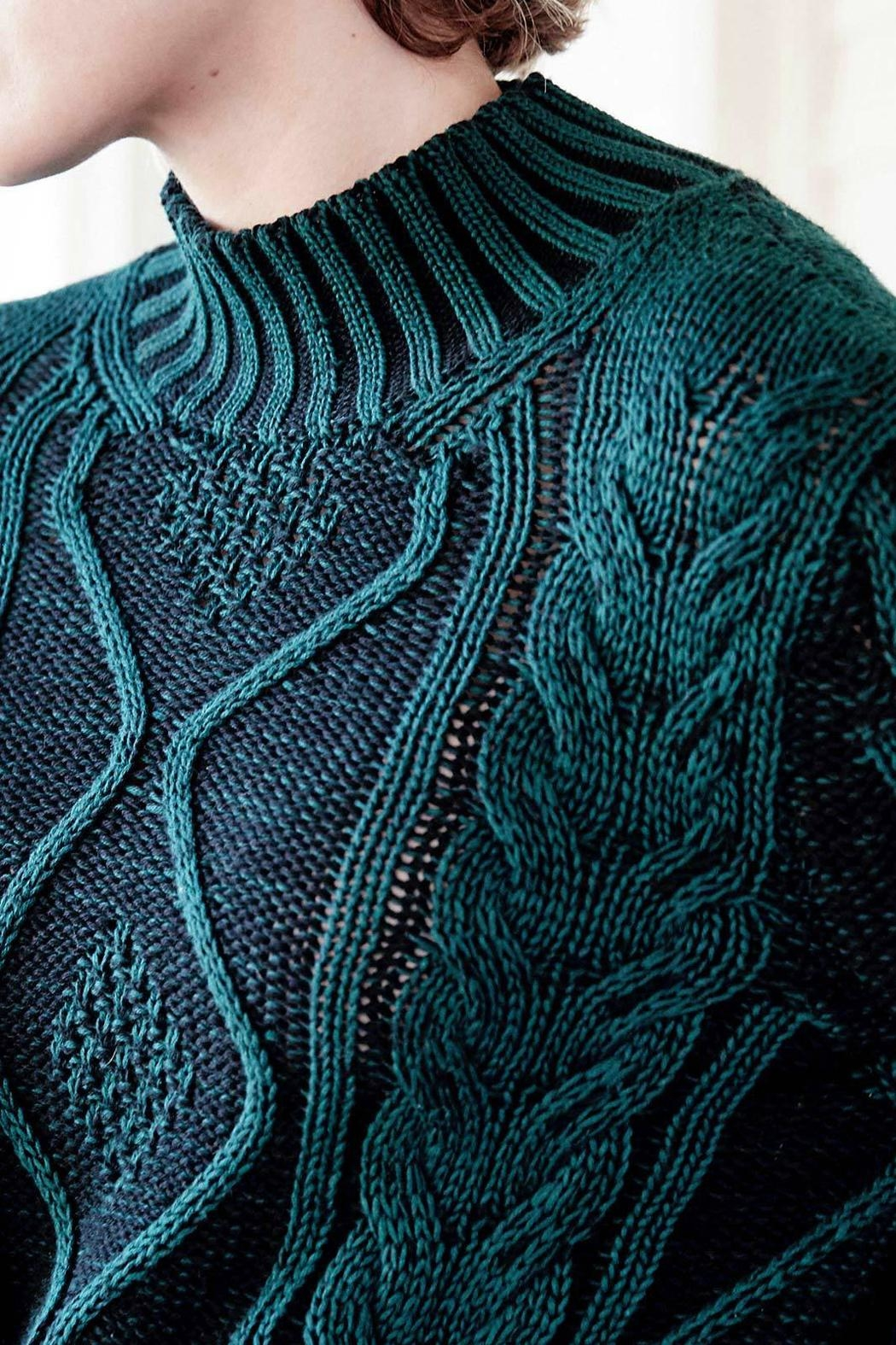 Indigenous Plated Cable Pullover - Front Full Image