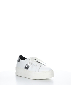 Bos & Co. Platform White Sneaker with metalic detail - Product List Image