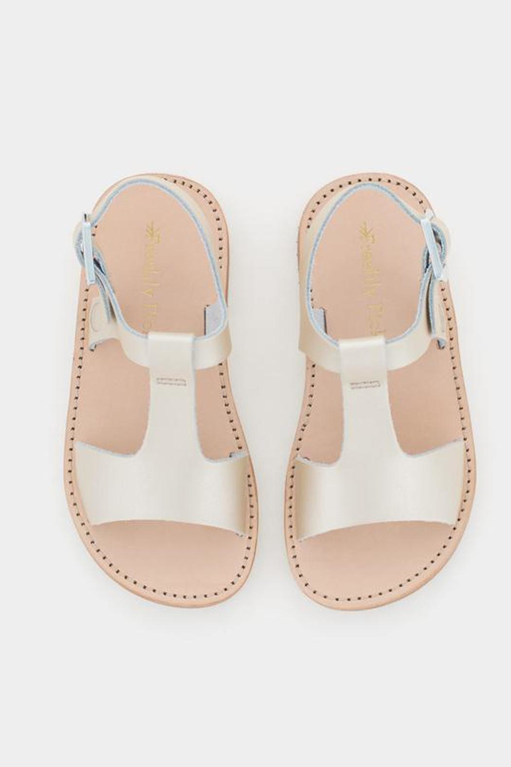 Freshly Picked Platinum Malibu Sandal - Back Cropped Image