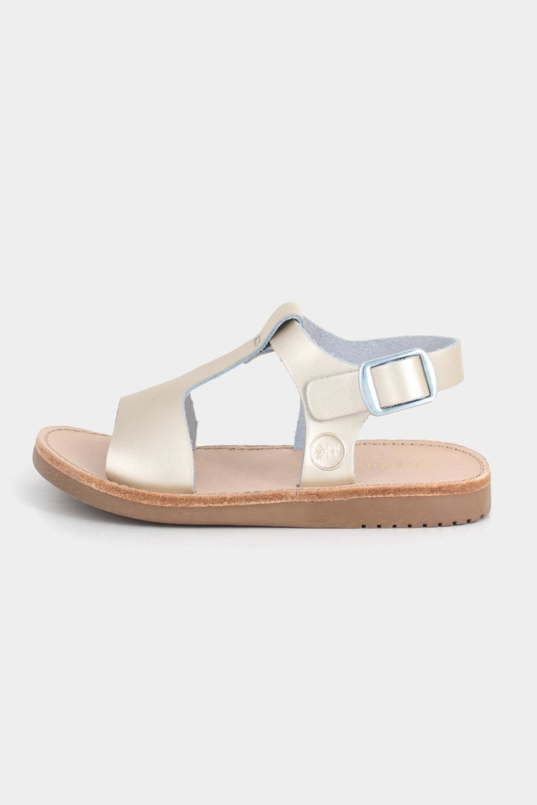 Freshly Picked Platinum Malibu Sandal - Front Full Image