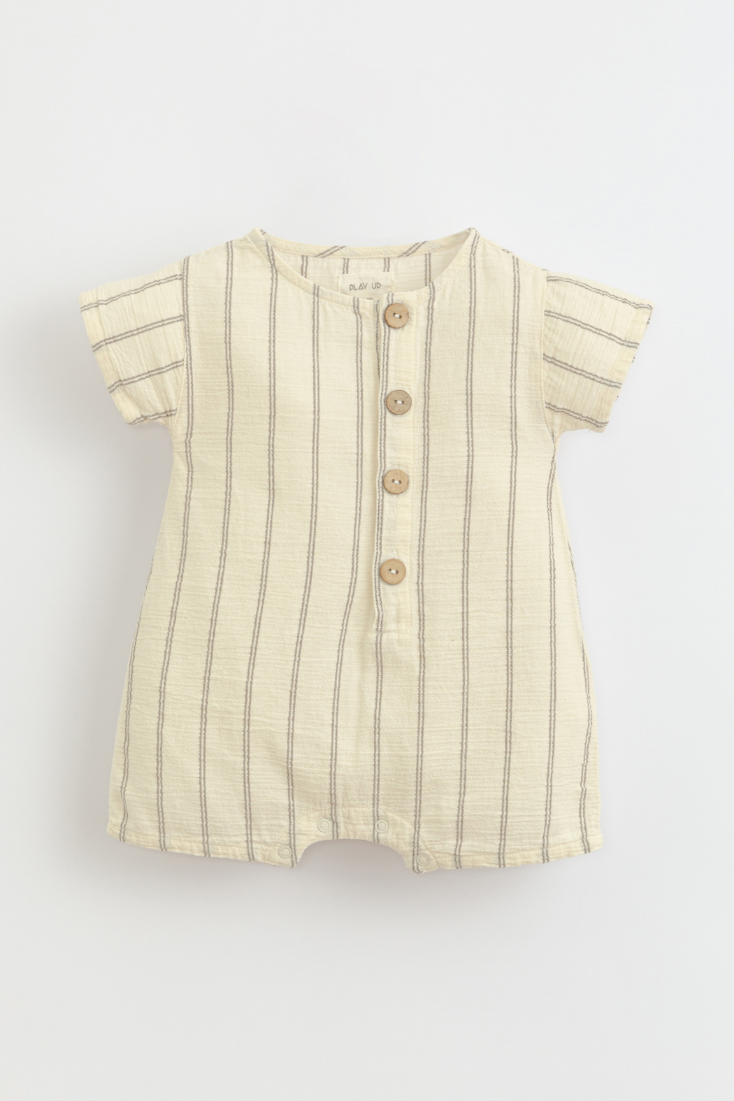 Play Up Jersey jumpsuit with coconut buttons | Botany - Main Image