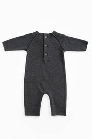 Play Up Mono Jersey Stitch Organic Cotton Baby Jumpsuit with knee Pads Woodwork - Front full body