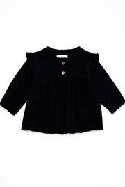 Play Up Organic Cotton Fleece Sweater two botton Jacket for Girls - Front cropped