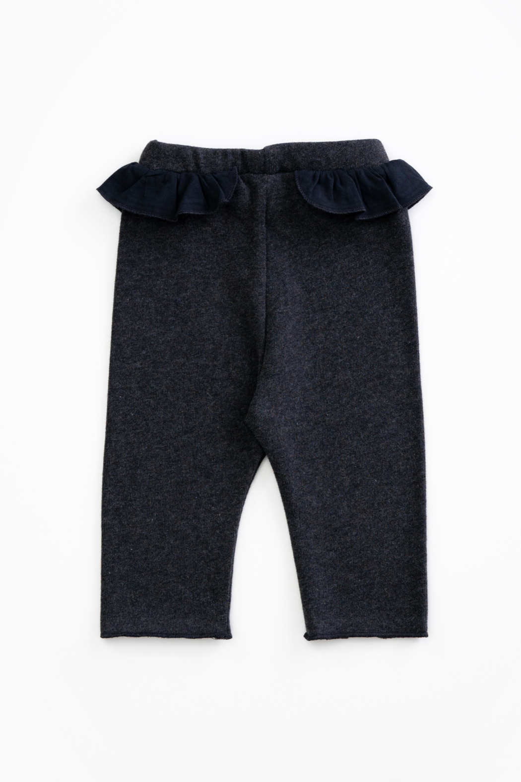 Play Up Organic Cotton Jersey Leggings with frill for baby girls - Front Full Image
