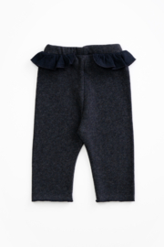 Play Up Organic Cotton Jersey Leggings with frill for baby girls - Front full body