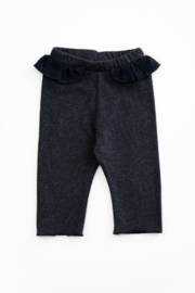 Play Up Organic Cotton Jersey Leggings with frill for baby girls - Product Mini Image