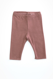 Play Up Organic Cotton Jersey Stitch Leggings For Baby Girl - Product Mini Image