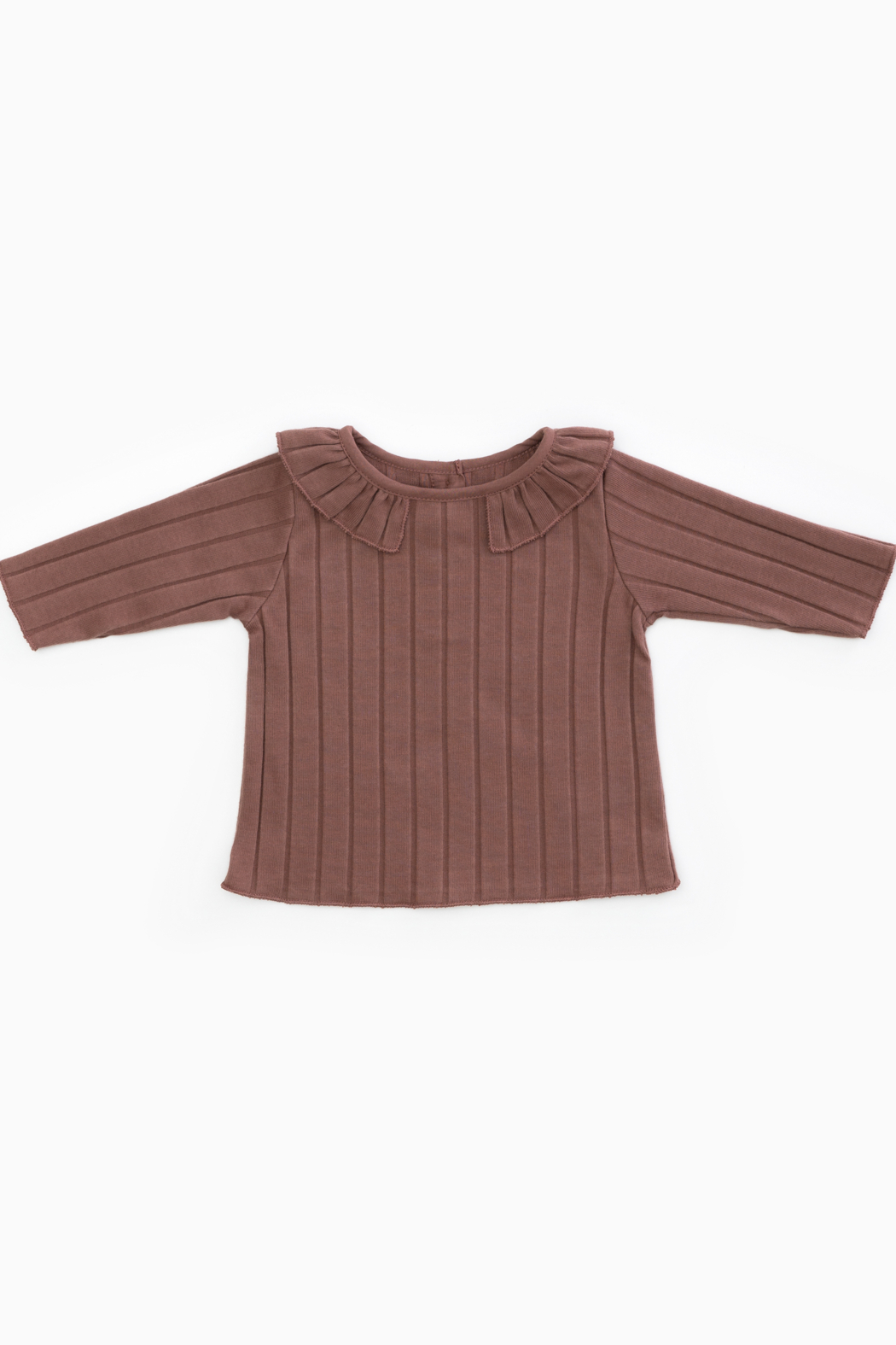 Play Up Organic Cotton Rib T-Shirt with Frill for Baby Girls - Main Image