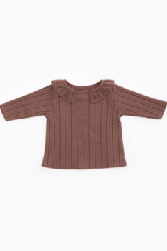 Play Up Organic Cotton Rib T-Shirt with Frill for Baby Girls - Product List Image