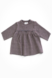 Play Up Organic Cotton Striped Jersey with opening on the Shoulder - Front cropped