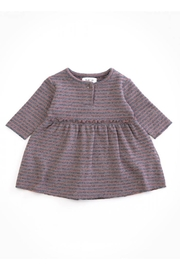 Play Up Organic Cotton Stripped Jersey Dress with Frill for Baby Girls - Product Mini Image