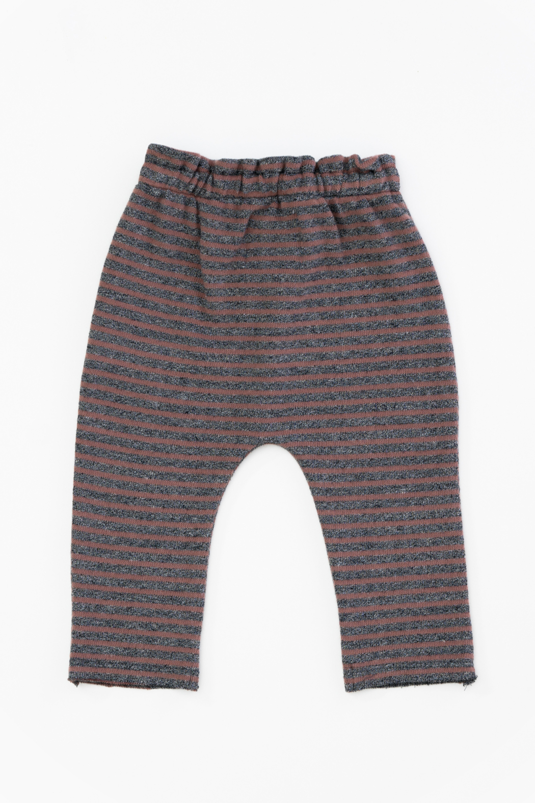 Play Up Organic Cotton Stripped Jersey Leggings for Baby Girls - Front Full Image