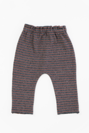 Play Up Organic Cotton Stripped Jersey Leggings for Baby Girls - Front full body