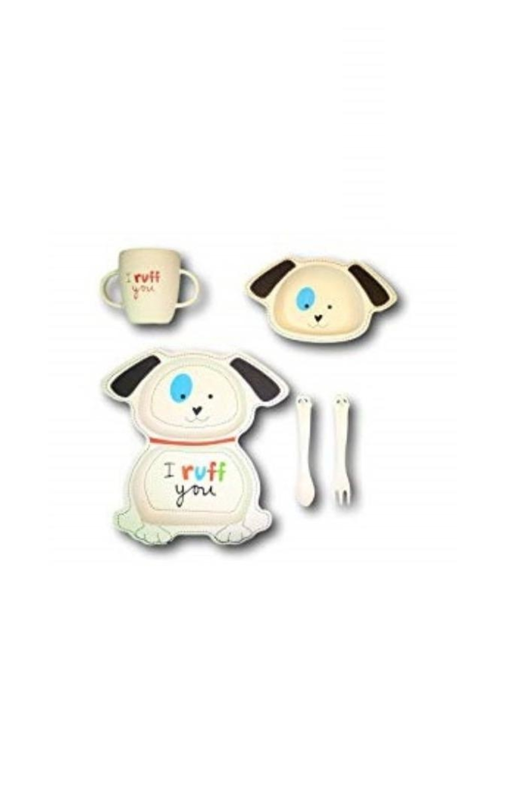 Manual Woodworkers and Weavers Playful Puppy Dishset - Main Image