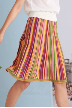 Shoptiques Product: Playful Stripe Skirt