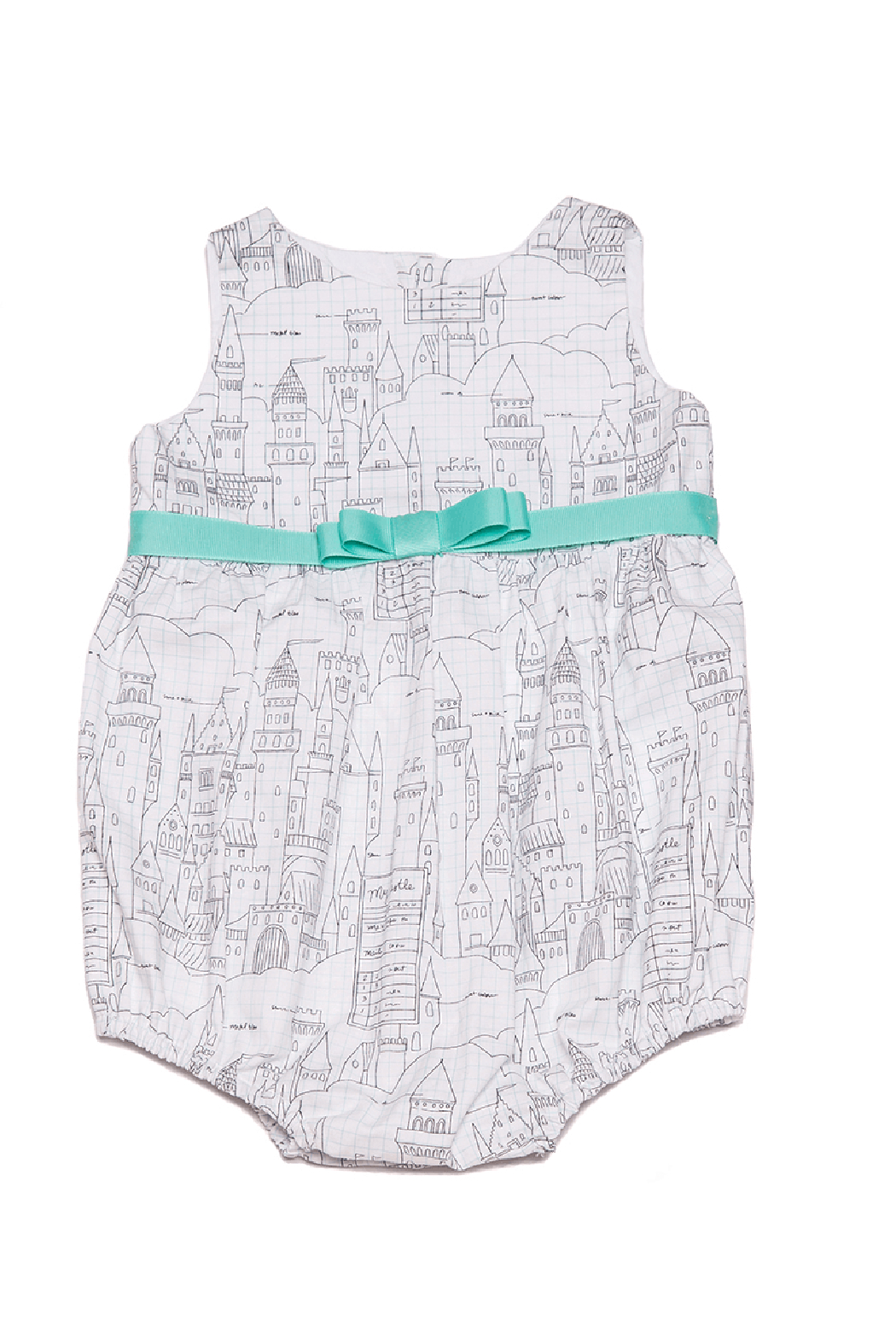 Mandy by Gema Playsuit Castle Plans White - Main Image