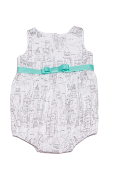 Mandy by Gema Playsuit Castle Plans White - Product List Image