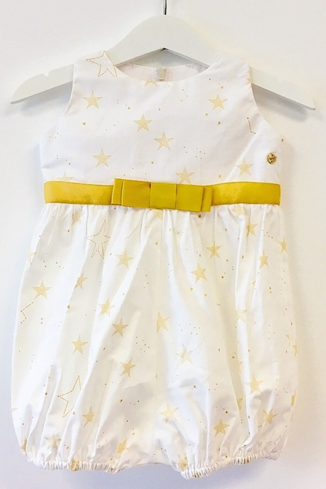 Mandy by Gema Playsuit Lucky Stars White - Front Full Image