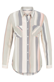 Tribal Jeans Pleat Back Striped Shirt - Product Mini Image
