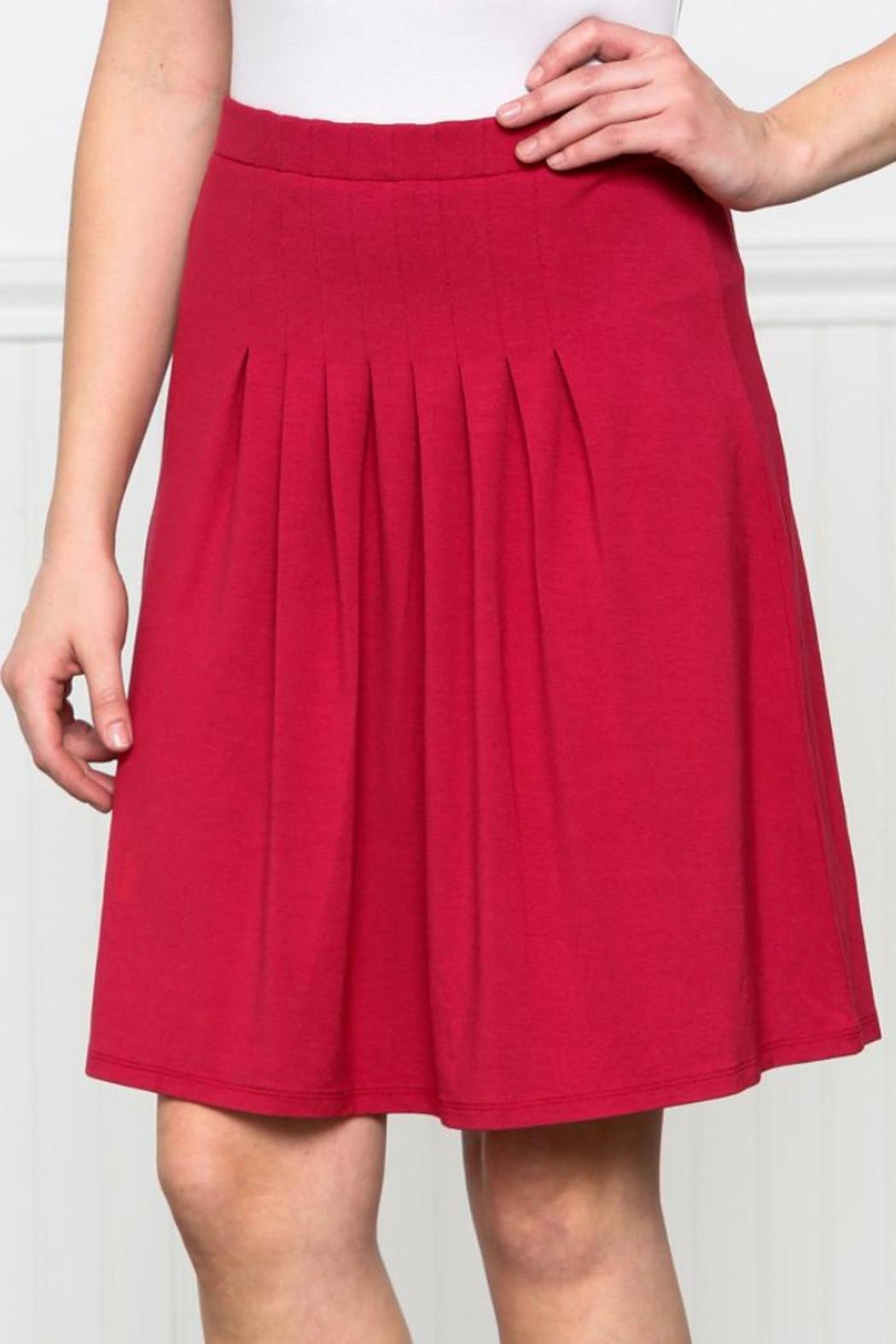 Downeast Basics Pleat Front Skirt - Front Cropped Image