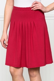 Downeast Basics Pleat Front Skirt - Front cropped