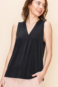 HYFVE Pleat Front V Neck Top - Product List Image