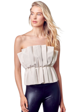 Do & Be Pleat Me Leather Top - Product List Image
