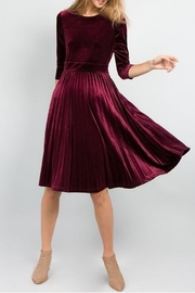 Hidden Closet Pleat Velvet Dress - Product Mini Image