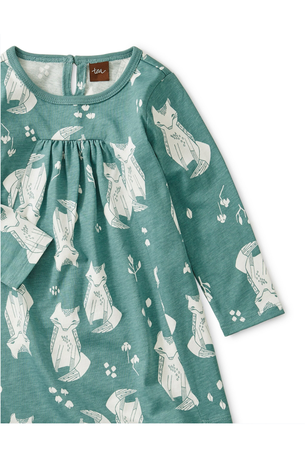Tea Collection Pleated Baby Dress - Front Full Image