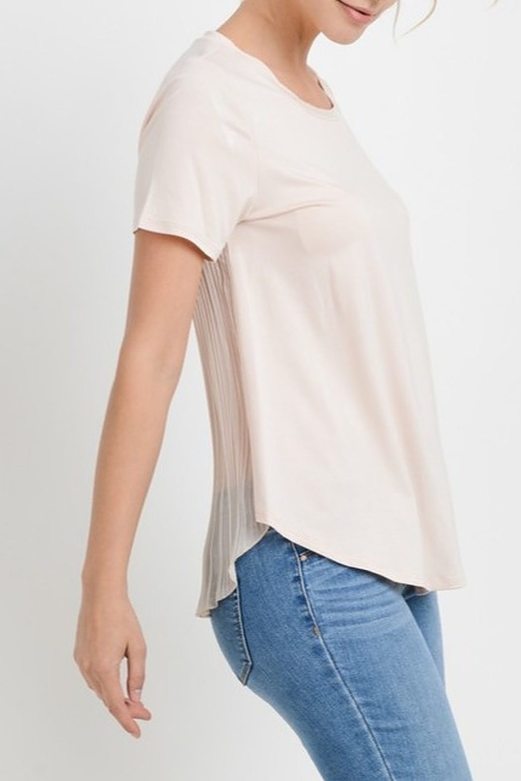Papercrane Pleated Back Top - Side Cropped Image