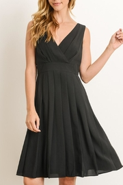 The Vintage Valet Pleated Black Dress - Front cropped