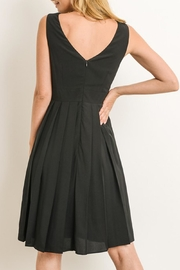 The Vintage Valet Pleated Black Dress - Front full body