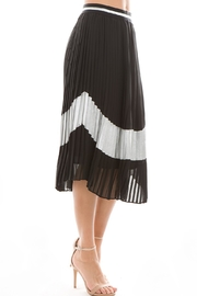 On Twelfth Pleated Black Skirt - Product Mini Image