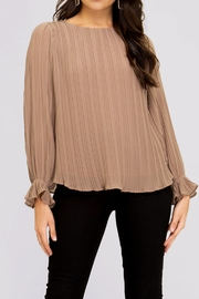 She and Sky Pleated Blouse - Product Mini Image