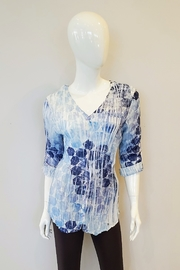 Komarov Pleated Button-Up Top - Product Mini Image