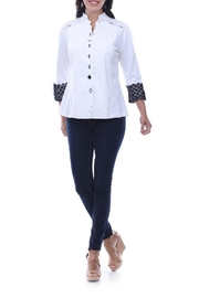 Parsley & Sage Pleated Button Up - Front cropped