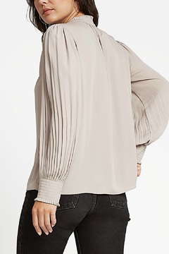 Current Air Pleated Collar TOp - Alternate List Image
