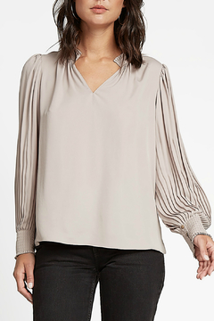 Current Air Pleated Collar TOp - Product List Image