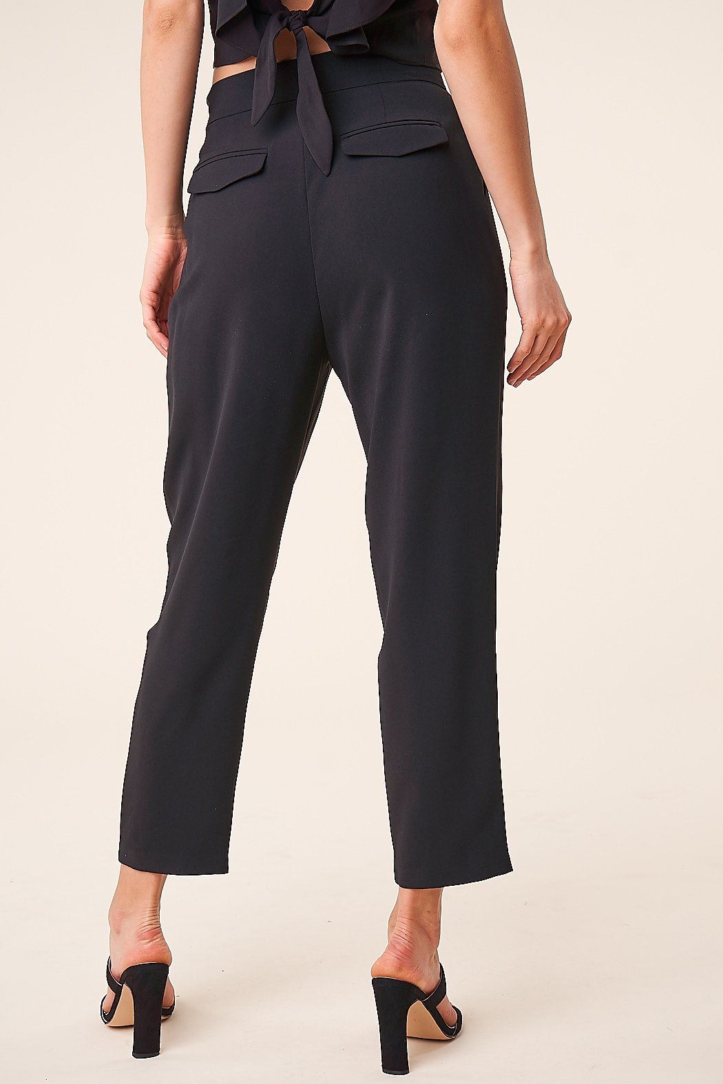 Sugarlips Pleated Cropped Trousers - Side Cropped Image